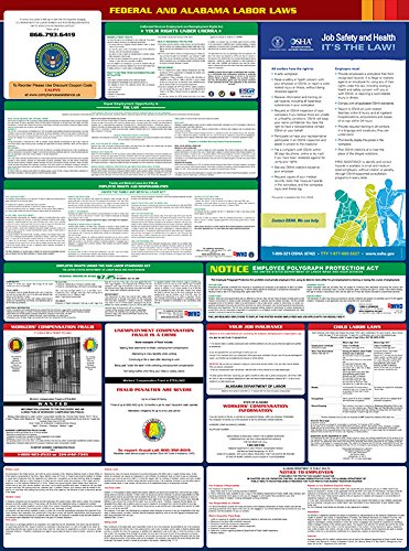 2017 Alabama State and Federal All-in-one Labor Law Poster - English