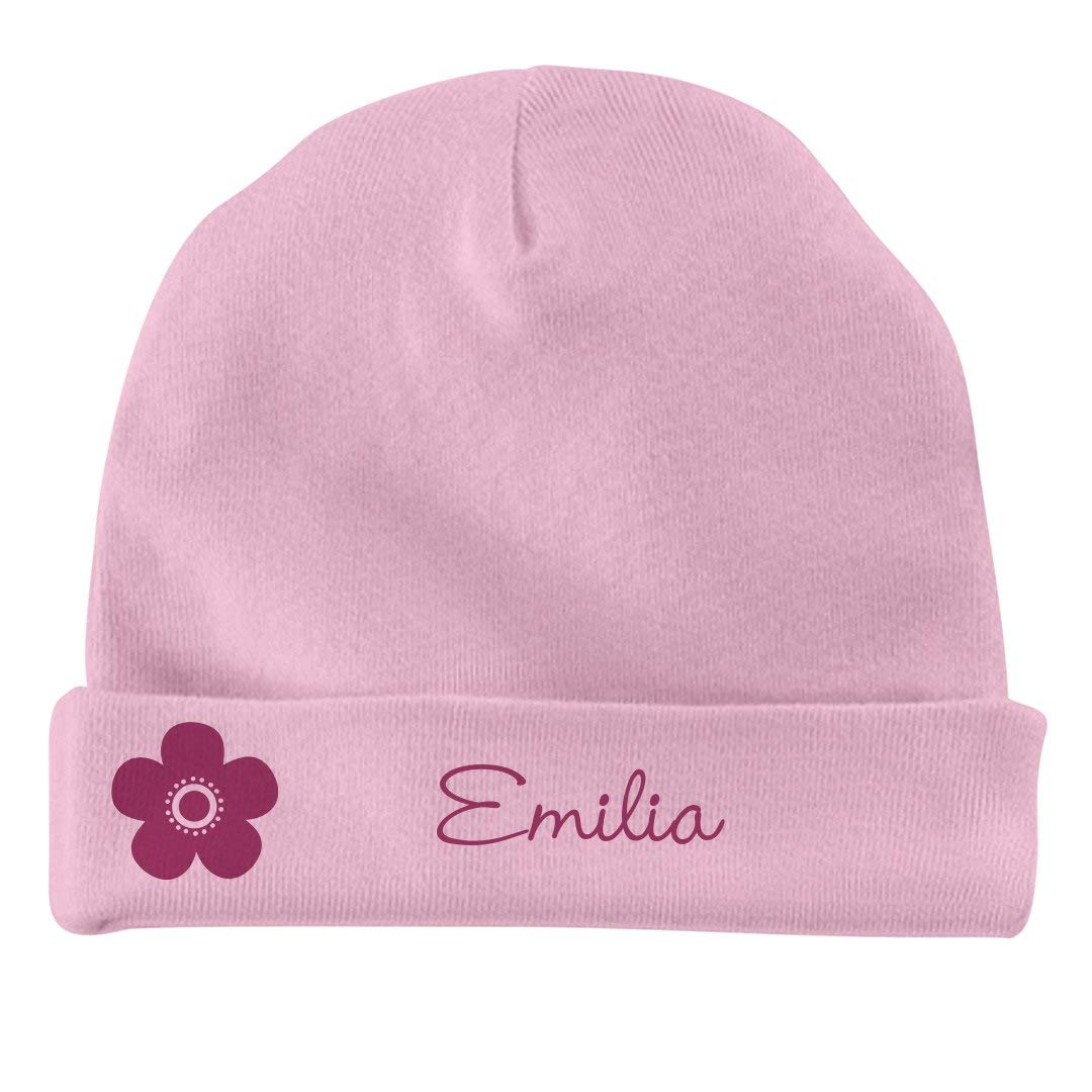 Infant Baby Hat FUNNYSHIRTS.ORG Baby Girl Emilia Flower Hat