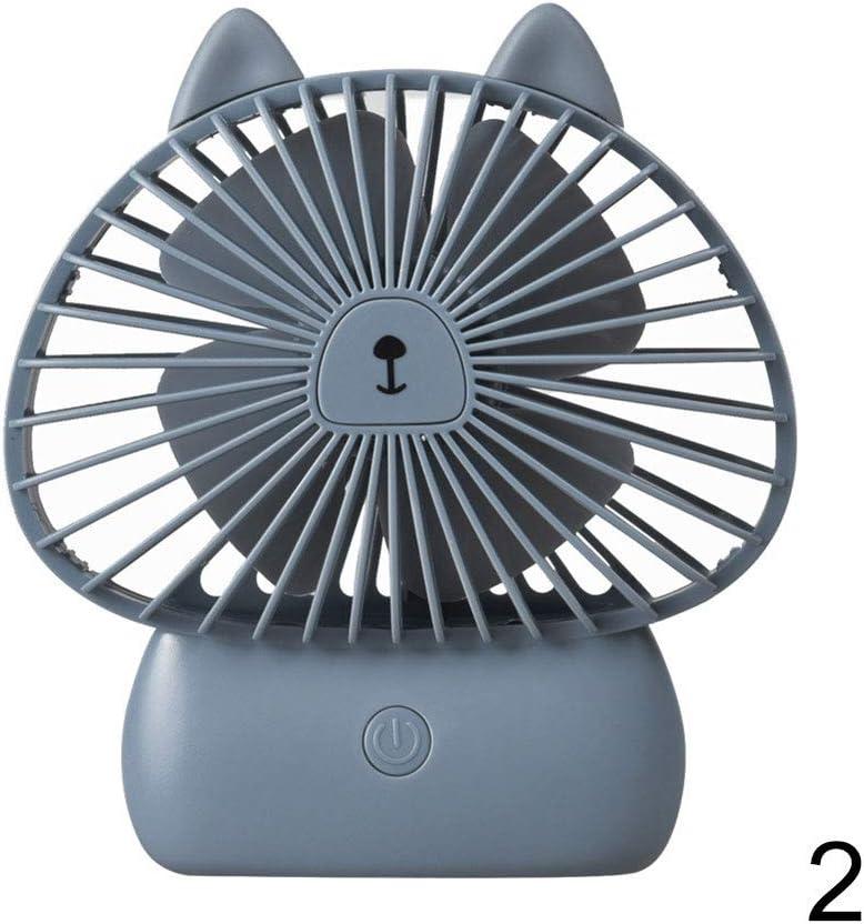 Finetoknow Fan,Cooling Fan,USB Charging,Mini Portable Fan USB Charging Cartoon Shape Eco-Friendly Lightweight Fan