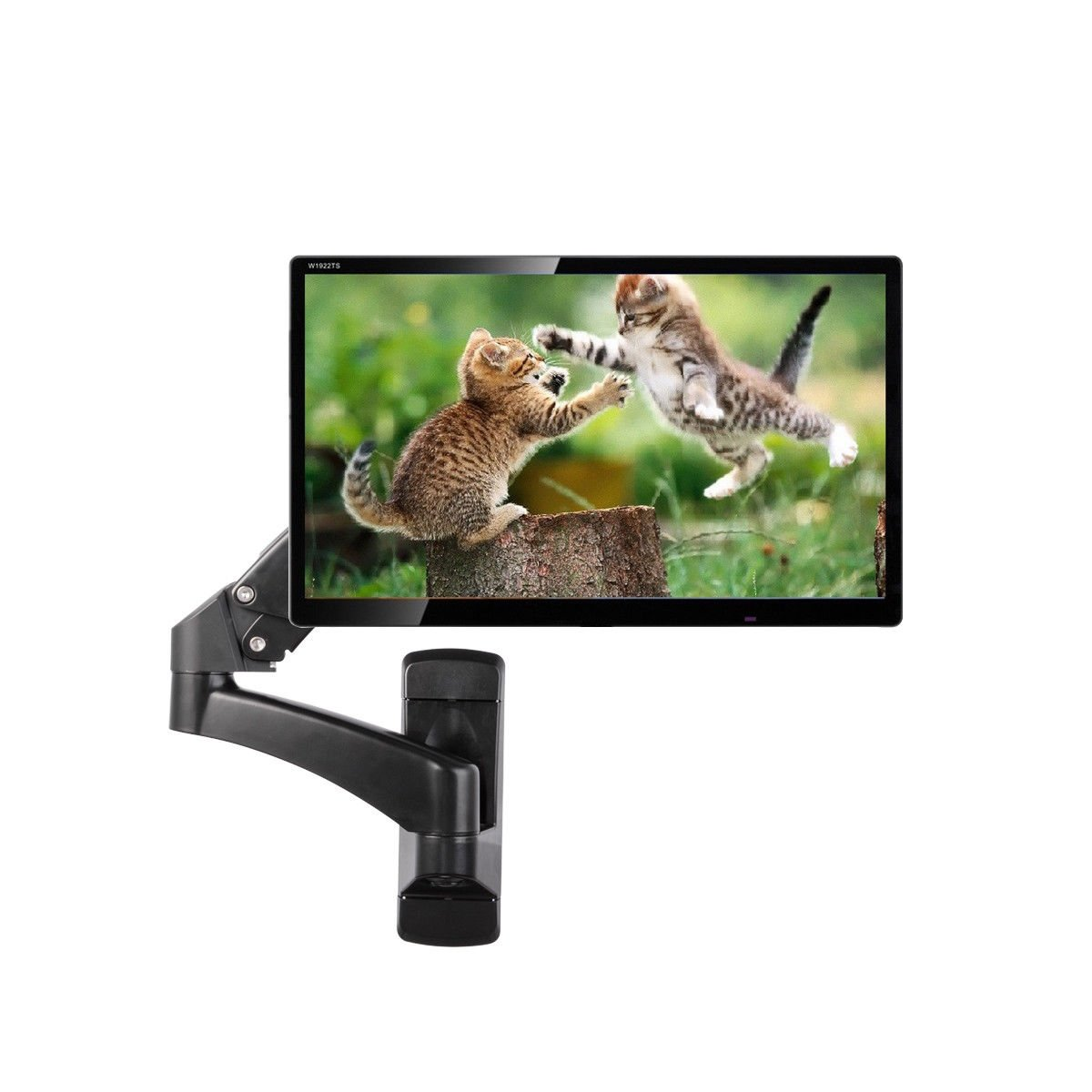 Tangkula Monitor Wall Mount Hydraulic Adjustable Articulating Extension for 32 To 42'' Up To 51lbs TV Monitor Bracket