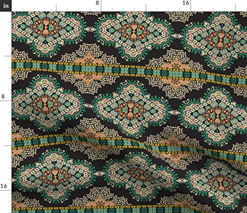 - Spoonflower Mosaic Fabric - Mosaic French Modern Brocade Mosaic Tile French Brocade Modern Dot by Holli Zollinger Printed on Petal Signature Cotton Fabric by The Yard