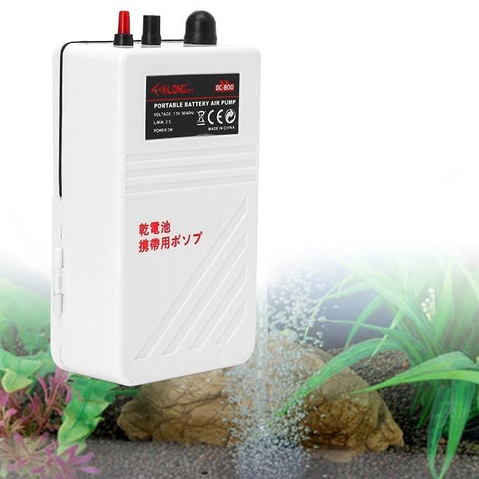 SimpleLife Acuario de la Bomba de Aire del Acuario Pilas aireador de oxígeno con Aire Piedra 2W: Amazon.es: Hogar