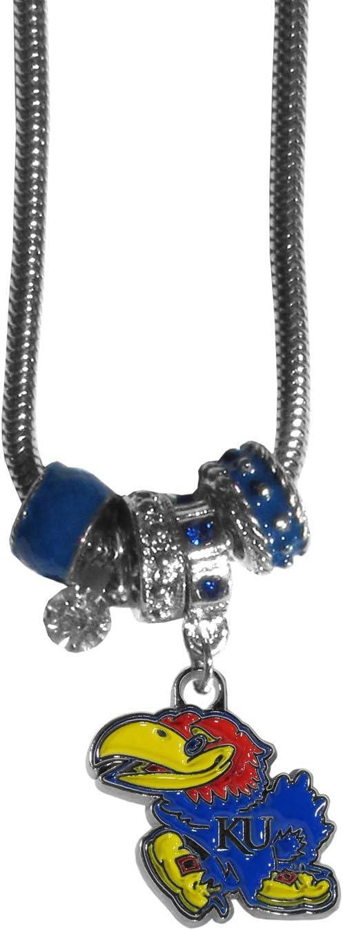 NCAA Womens Euro Bead Earrings and Necklace Set