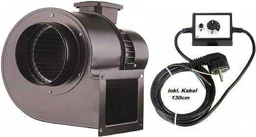OBR200 Ventilador industrial con 500W Regulador de Velocidat ...