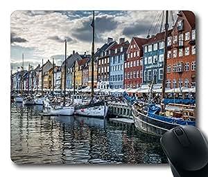 Copenhagen Denmark Mouse Pad Desktop Laptop Mousepads Comfortable Office Mouse Pad Mat Cute Gaming Mouse Pad