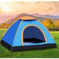 Camping Tent Beach Tent Dome Tent 2 Door Breathable Waterproof UV Protection for Family Outdoor Sports Travel Picnic 3-4…