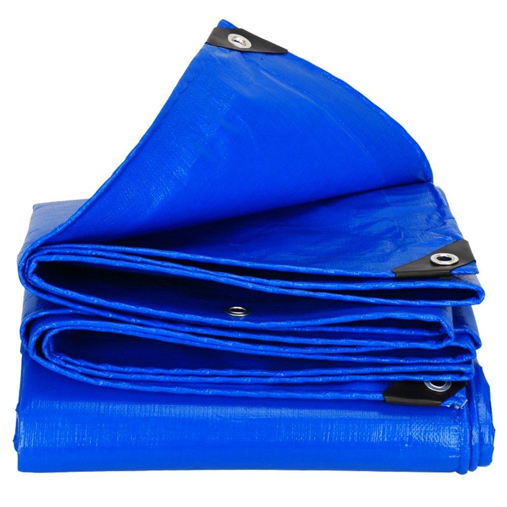 CHAOXIANG オーニング 厚みのある折りたたみ可能な両面防水性耐寒性の日よけ保護防風防塵性耐摩耗性耐食性PE青、180g/m2、厚さ0.35mm、24サイズ (色 : 青, サイズ さいず : 4×5m) B07DC6JBHH 4×5m|青 青 4×5m