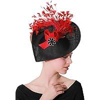 Z&X Sinamay Fascinator Pillbox Hat Headband Hair Clip Cocktail Tea Party