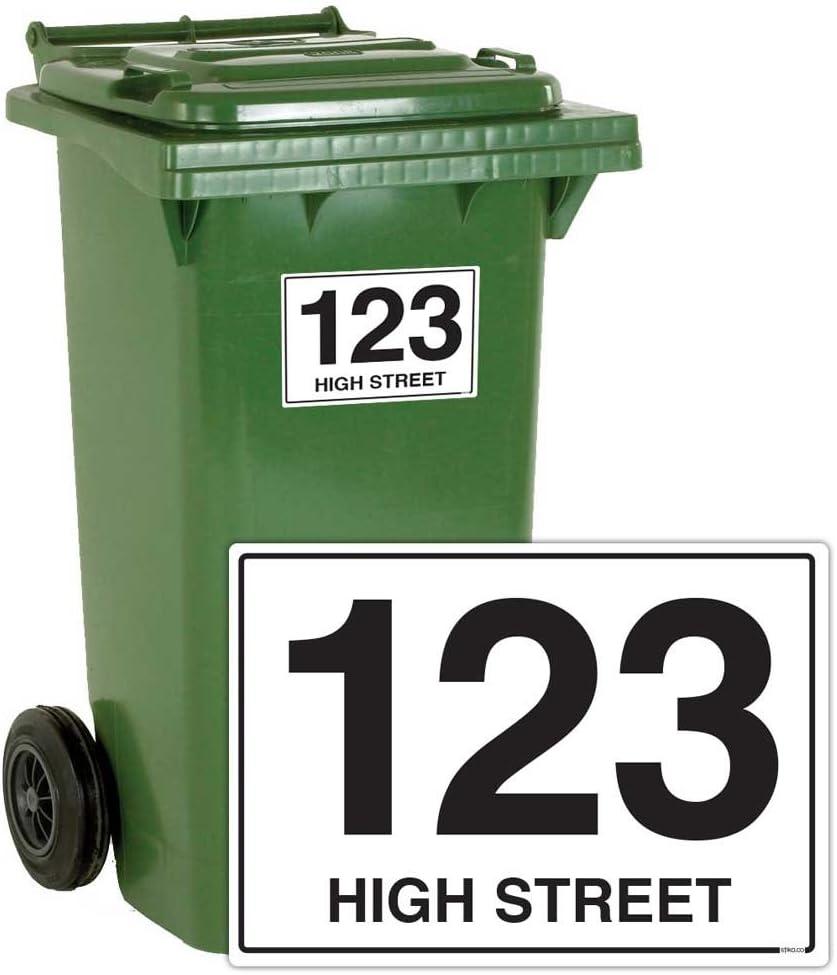 Bin Wheelie Sticker Graffiti  Number Decal Print Sticker Garden Waste Adhesive