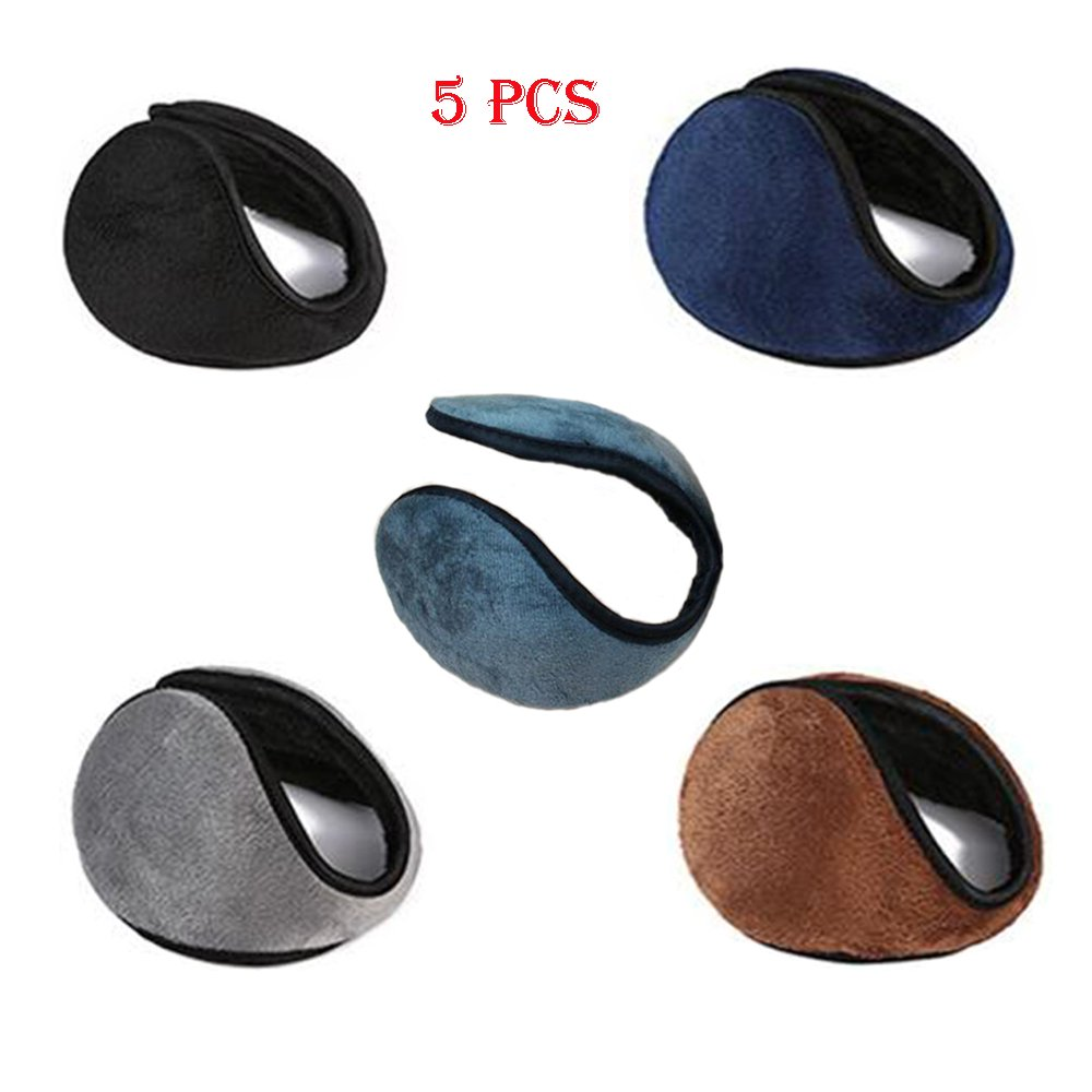 Careshine Ear Earmuff, 5 Pcs Soft Ear warmer Winter Ear Muff Wrap Warm Grip Earlap