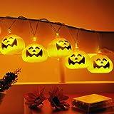 GEEDIAR? 20 LED Guirlande Lumineuse Halloween en Forme de Citrouilles LED pour d¨¦corations No?l de lumi¨¨res No?l F¨ºte ¡