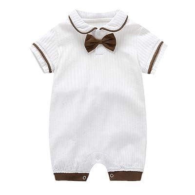 Mangka Baby Boys Cotton Gentleman Bowtie Romper Suit