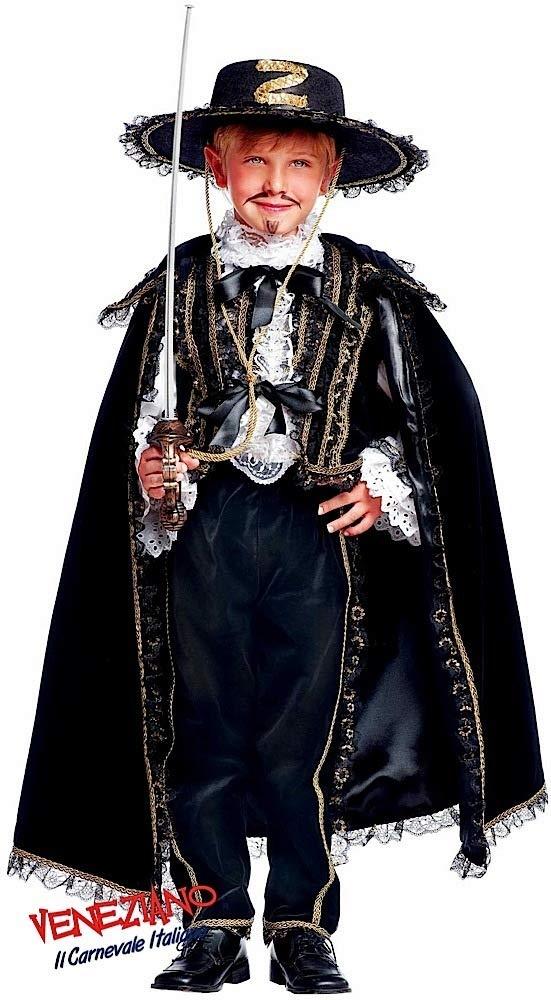 Fancy Me Prestige Sammlung Italian Made Super Deluxe Baby &ältere Jungen schwarz Bandit historisch Halloween Karneval Buch Tag Woche Kostüm Kleid Outfit 0-12 Jahre - Schwarz, 0 Years