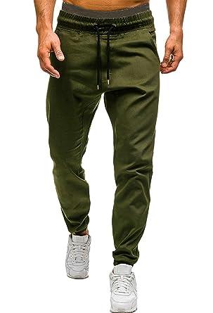 ae7113dfadee2 Minetom Homme Pantalon Sarouel Jogger Pants Cargo Jogging Sport Pantalons  Chino Slim Fit Rouge Skinny Casual