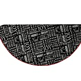 Chalkboard Design Xmas Tree Skirt:  58 Inch Diameter Cotton Black, White, Red Tree Skirt with Xmas Quotes by RAZ Imports