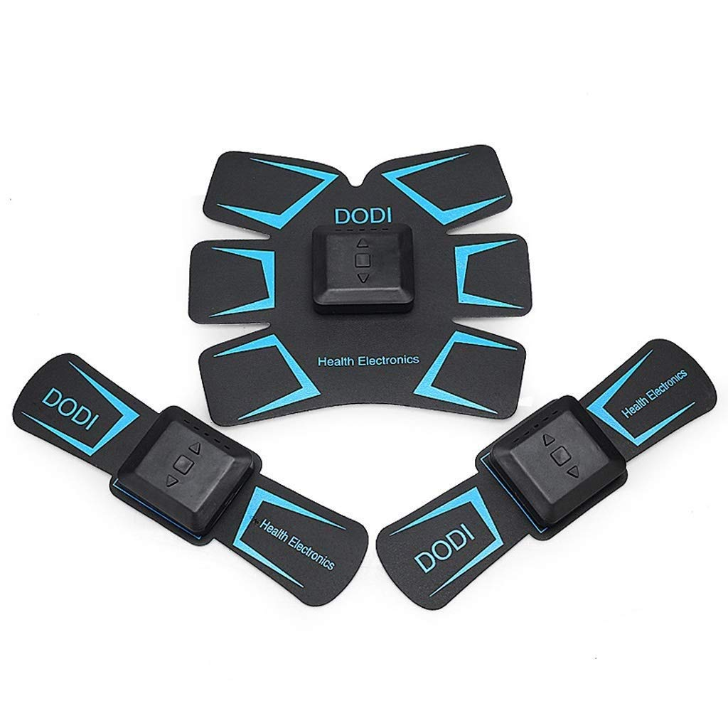 Black Fitness EMS Muscle Stimulator ABS Trainer Muscle Toner Belt, Unisex Office Home Lazy Movement USB Charging Abdominal Muscle Massage ABS Simulator (color   Black)