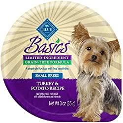 BLUE Basics Limited Ingredient Diet Adult Small Breed Grain-Free Turkey & Potato Wet Dog Food 3-oz (Pack of 12)