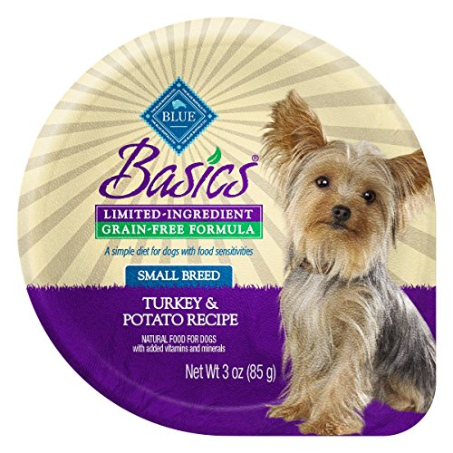 Basic Buffalo (BLUE Basics Limited Ingredient Diet Adult Small Breed Grain Free Turkey & Potato  Wet Dog Food 3-oz (Pack of 12))