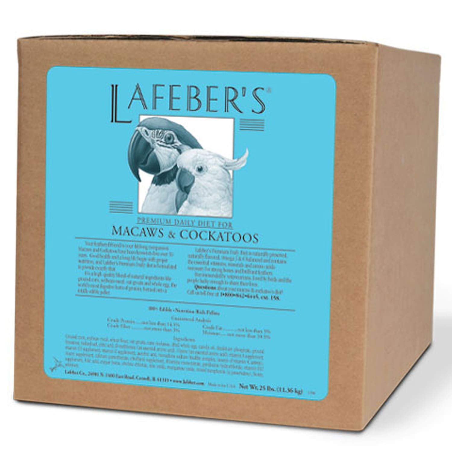 LAFEBER'S Premium Daily Diet or Gourmet Fruit Pellets Pet Bird Food, Made with Non-GMO and Human-Grade Ingredients, for…