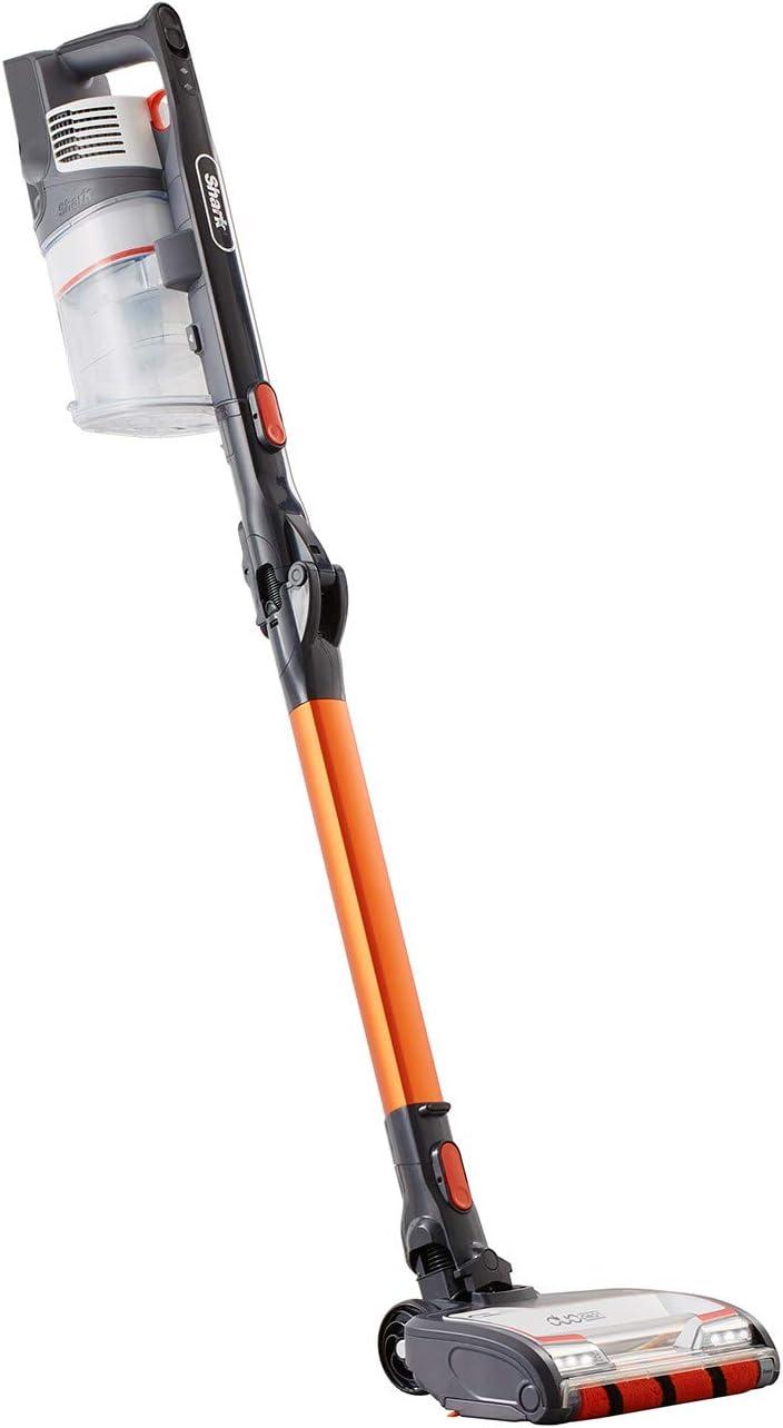 Aspiradora de escoba sin cable Anti Hair Wrap de Shark [IZ201EU], Una Batería, Naranja