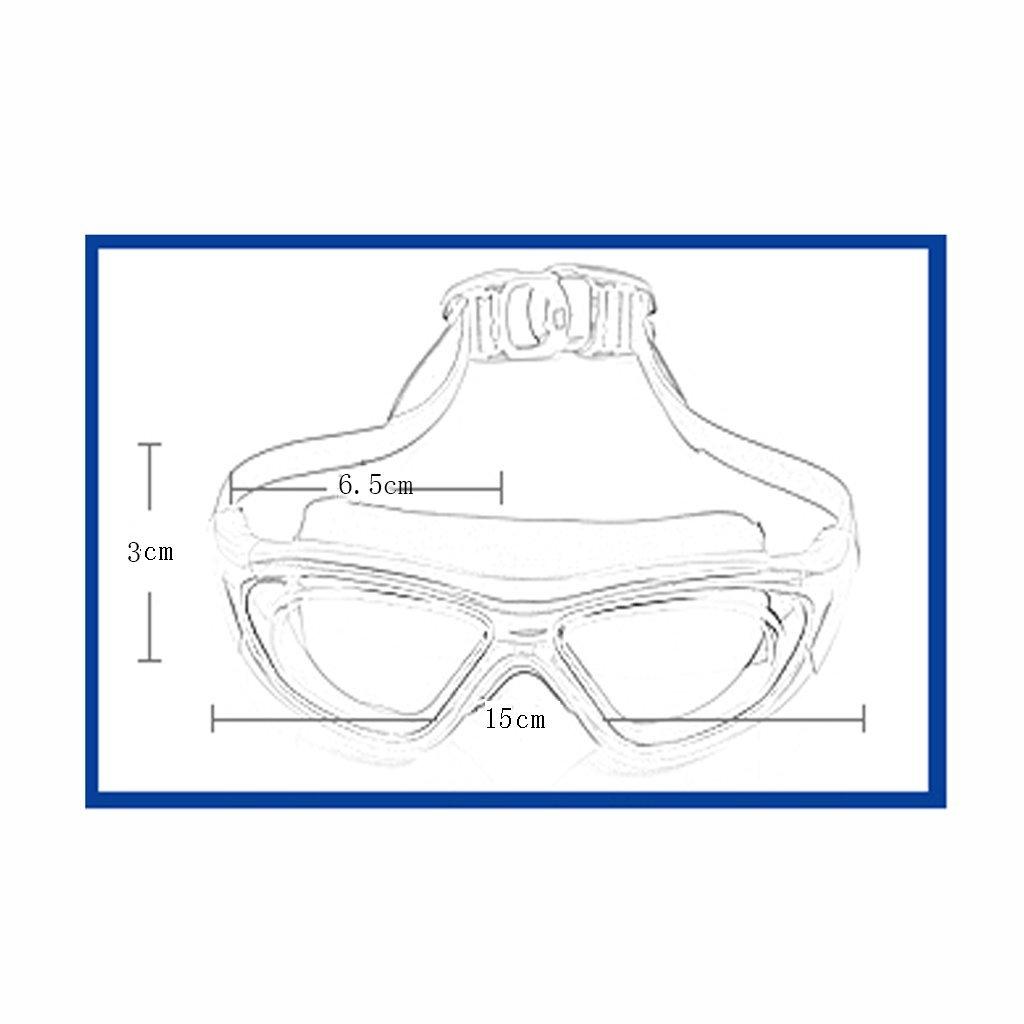 Schwimmbrille LCSHAN Anti-UV-Brille flach wasserdicht Anti-Beschlag Galvanik Unisex Unisex Unisex großen Rahmen (Farbe   Blau) B07DNSH53C Schwimmbrillen Die Farbe ist sehr auffällig f2278f