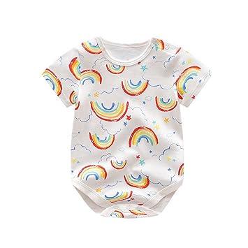 10c608ed9b4e7 ZooArts ベビー服 ロンパース 男の子 女の子 夏 半袖 綿 かわいい カラフル 新生児 カバーオール ボディースーツ 柔らかい おしゃれ