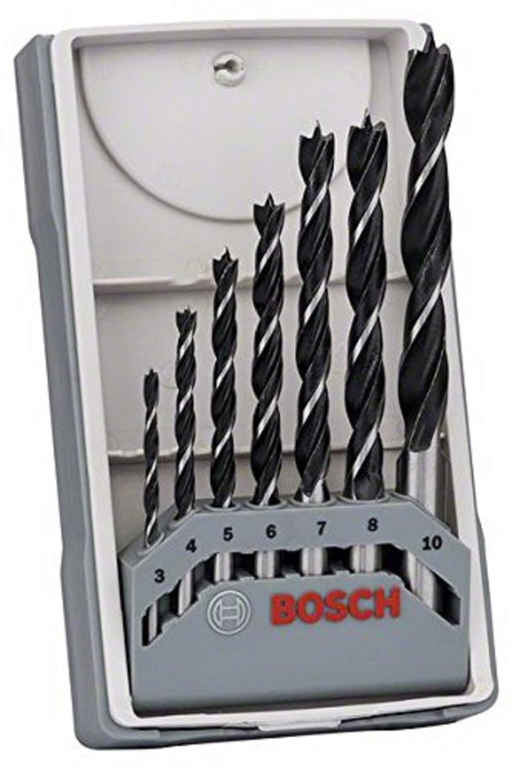 Bosch 2607017034 Professional 7-Piece Robust Line Brad Point Drill Bit Set (for Wood, Accessories for Drill Drivers) , Black/Silver , 45cm x 40cm x 25cm