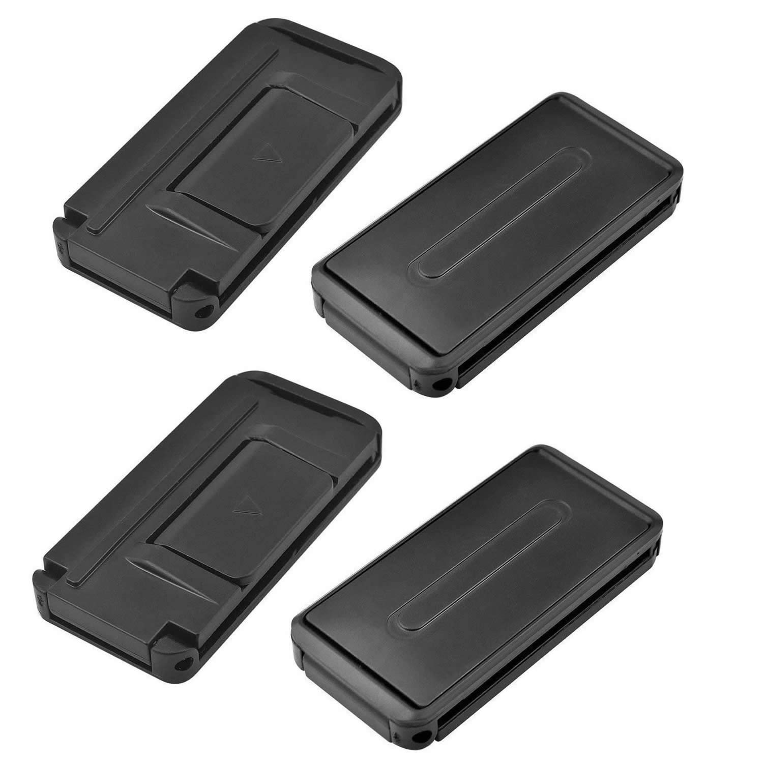 Car Seat Belt Adjuster,Seatbelt Clips - Provides Comfort for Neck and Shoulder While Driving! (4Pcs Black) AiMiiNiii