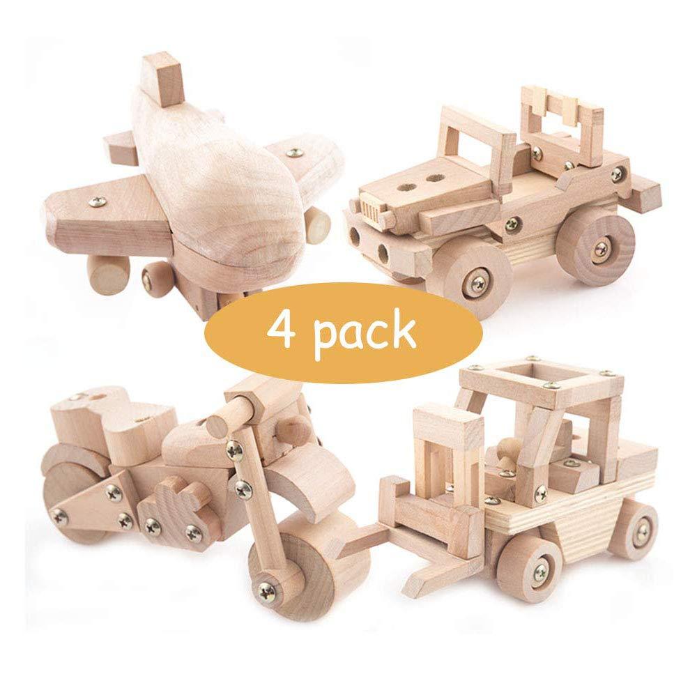 NBZH Kinderspielzeug - Übung Hände und Phantasie - Holzbearbeitung Bausatz 5 Stück - Baby über 3 Jahre alt 4pack