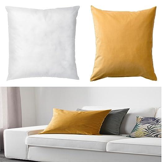 Ikea cojín Pad (Blanco) & Funda de cojín (Dorado marrón) (50 ...