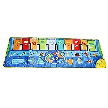 Amazon.com: Alfombrilla para piano de piso Cuticate: teclado ...
