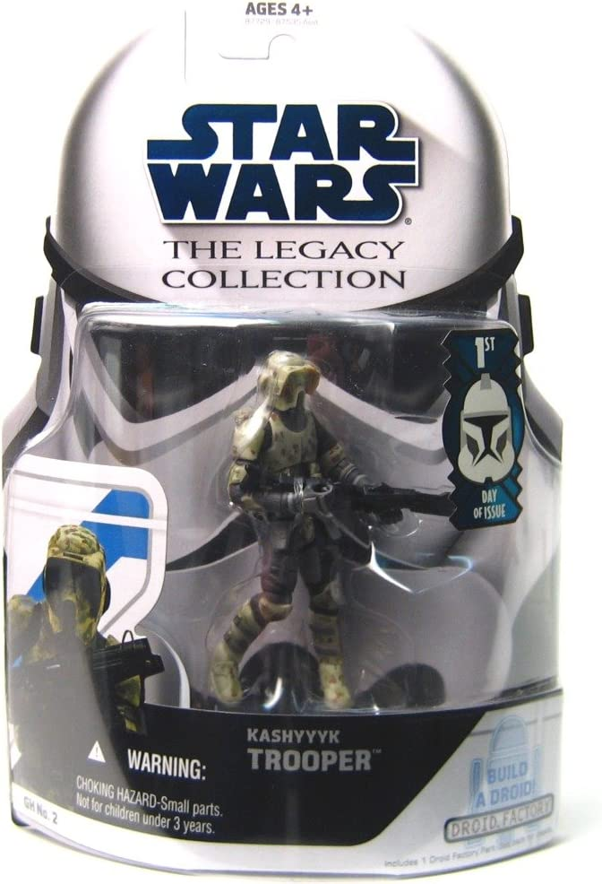 Amazon Com Star Wars The Legacy Collection Kashyyyk Trooper Build A Droid 3 3 4 Inch Scale Action Figure Gh No 2 Toys Games