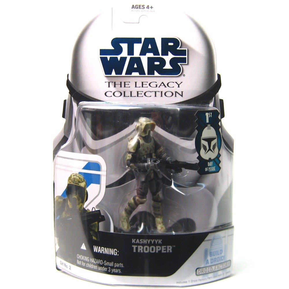 amazon com star wars the legacy collection kashyyyk trooper build