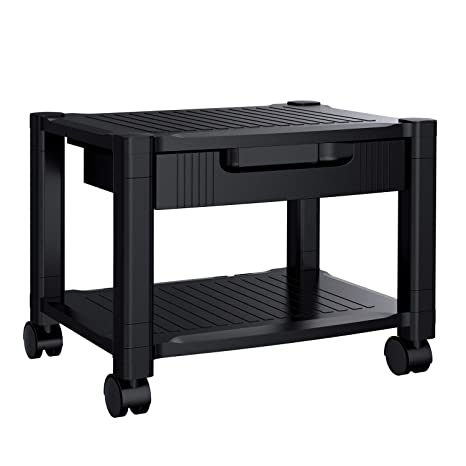 Printer Stand - Under Desk Printer Stand with Cable Management & Storage on cabinets for desk, shelves for desk, bins for desk, trays for desk, drawers for desk, coffee makers for desk, chairs for desk, accessories for desk, pillows for desk, lamps for desk,