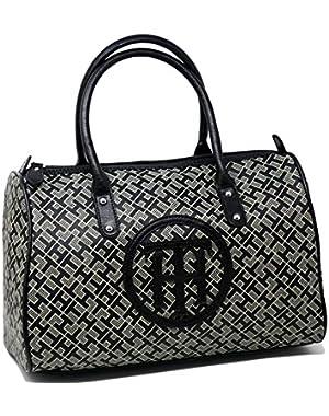 Logo Medium Satchel Tote Bag Handbag Purse