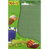 Makin's USA Clay Texture Sheets, 7-Inch by 5-1/2-Inch, Screen/Stripe/Check/Dot, 4 Per Package