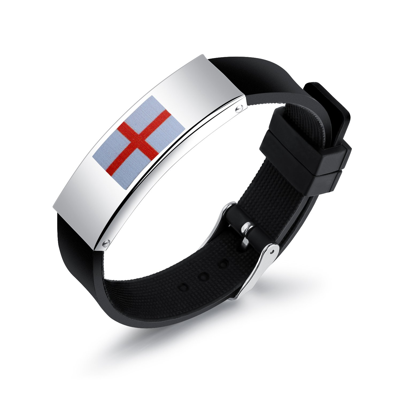 XYBH 2018 Coupe du Monde Silicone Bracelet Bracelet National Country Flag Unisexe Russie FIFA Football Fans Mode Bangles R/églable Longueur Angleterre Allemagne France Espagne Belgique