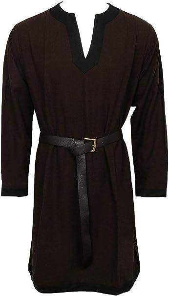 lancoszp Traje de Medieval para Hombre Camisa Larga Estilo Gotico ...
