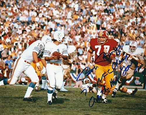 (Autographed Bill Brundige 8x10 Photo Washington Redskins )