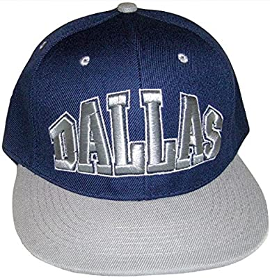 Dallas Men's Adjustable Snapback Baseball Cap (Navy/Gray)