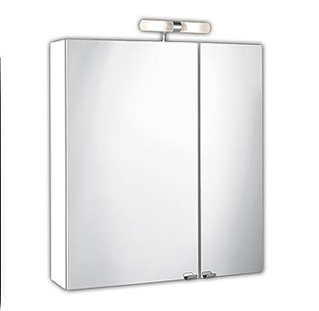 Posseik 5429-76, Armadietto da bagno con specchio a 2 ante, 60 x ...