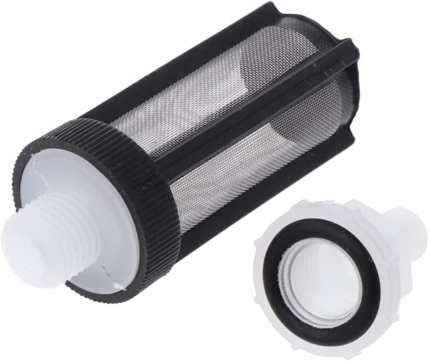 Filtro de pl/ástico recto para bomba de agua de 8 mm color negro Qiulip