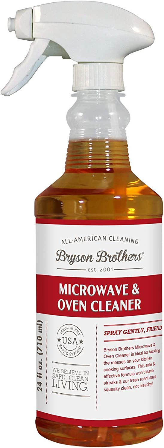 Bryson Brothers 24 Fl Oz Microwave and Oven Cleaner - Non-Toxic Formula Cleans and Degreases All Oven Types