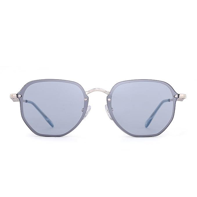 Gafas de Sol de Espejo Pequeñas Sin Marco Claro Polígono ...