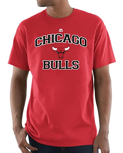 0a696057434 Chicago Bulls Majestic NBA  quot Heart   Soul 3 quot  Men s Short Sleeve T-