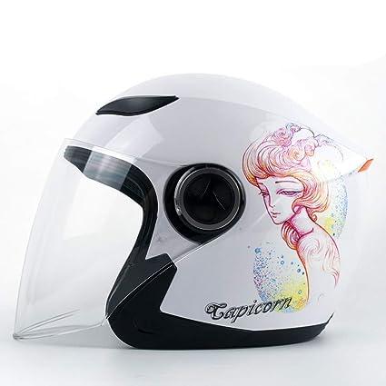 HJL Casco de Moto para Hombre Casco de Invierno para Mujer Four Seasons Casco Universal de
