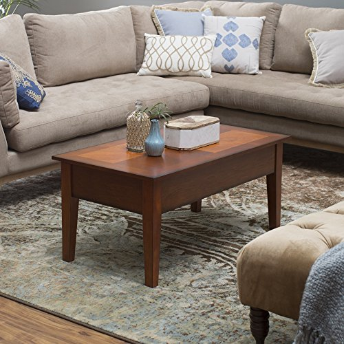 Rustic Coffee Tables (Oak) Lift Top Rectangle Wood Cocktail Living Room End Table Small Side Modern Furniture