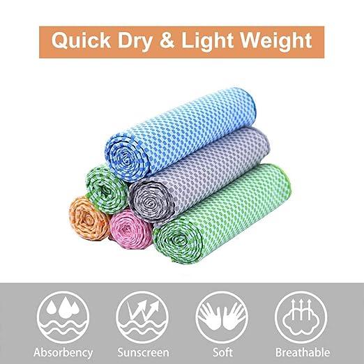 AYHa Toalla de enfriamiento Fitness Toallas de yoga Uso como ...