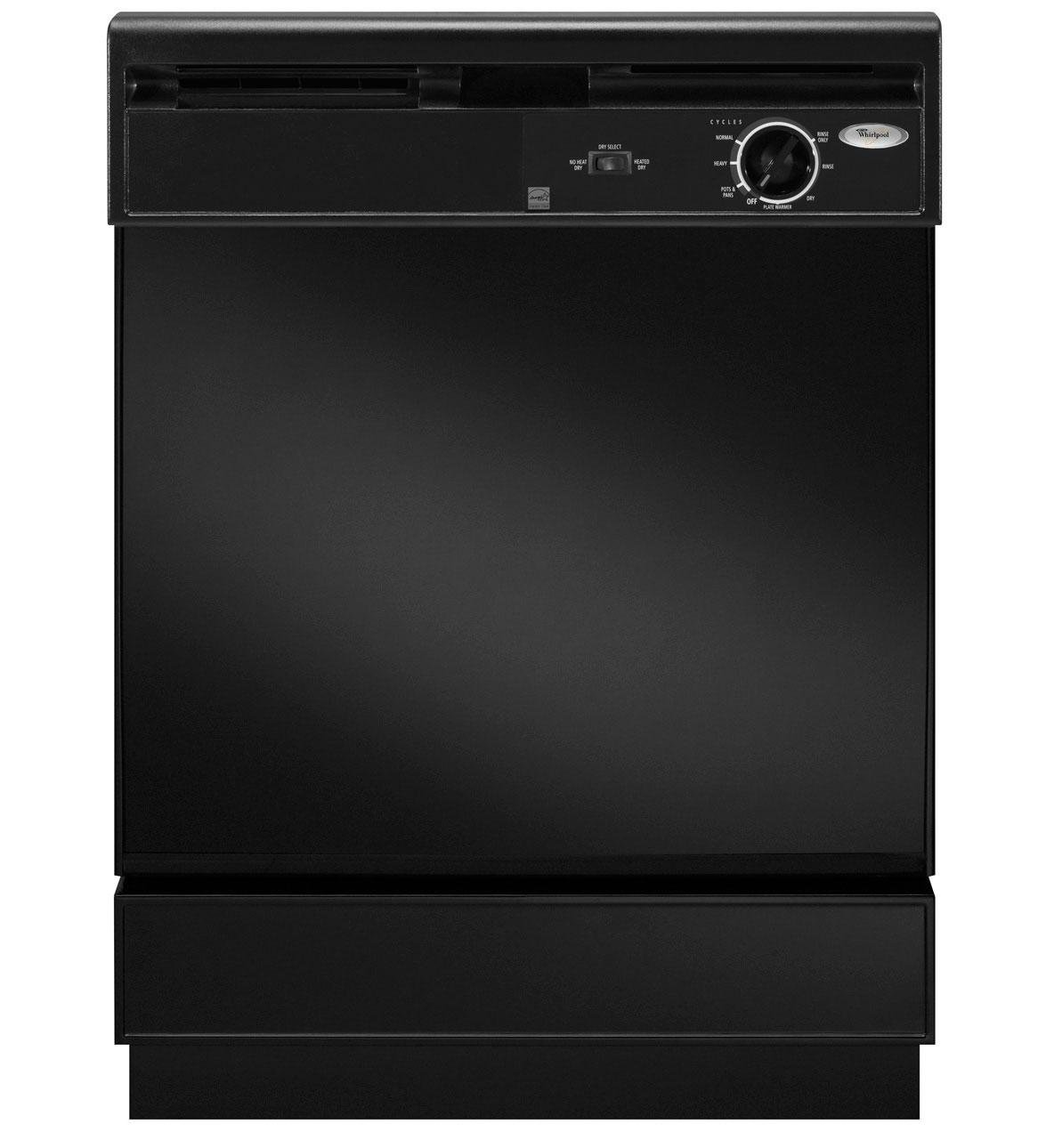 WHIRLPOOL DISHWASHERS 53-7700 Built-In 24'' Dishwasher, Black, 4 Cycles / 1 Option