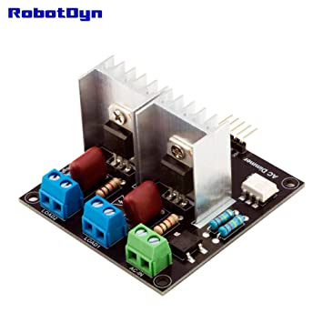 RobotDyn - 2 Channel AC Light and Motor Dimmer Controller Module for use  with Arduino, STM, ARM, AVR, Raspberry pi, 3 3V/5V Logic, AC 50/60hz,